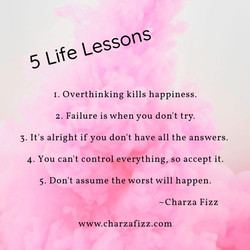 5 Life Lessons