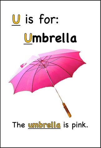The umbrella is pink.