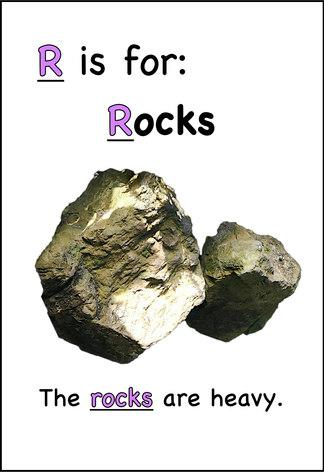 The rocks are heavy.