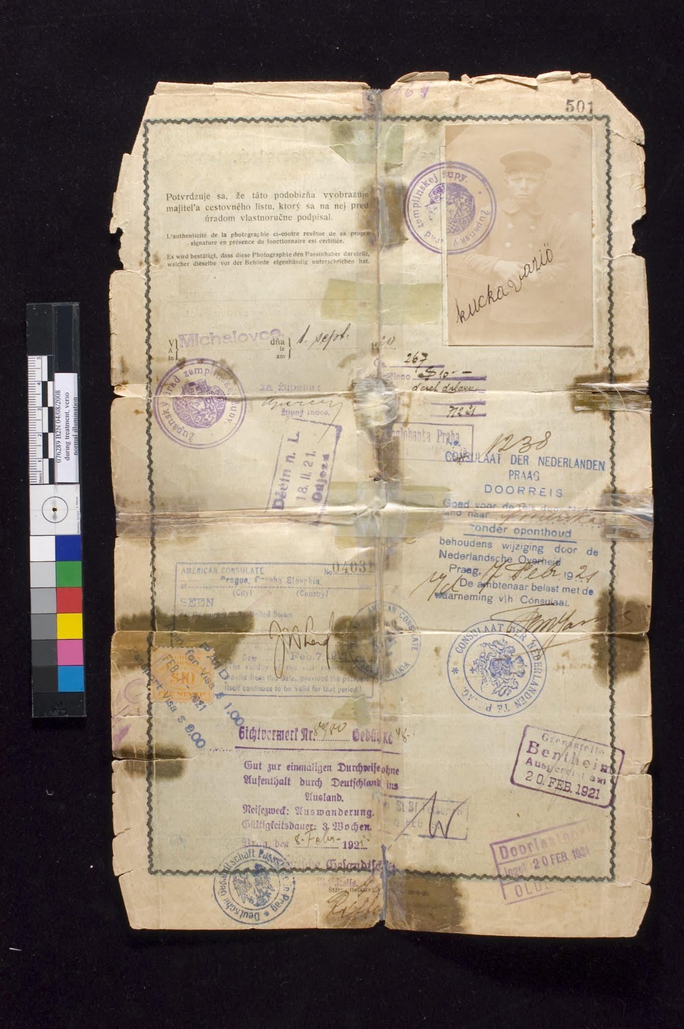 Passport, before treatment