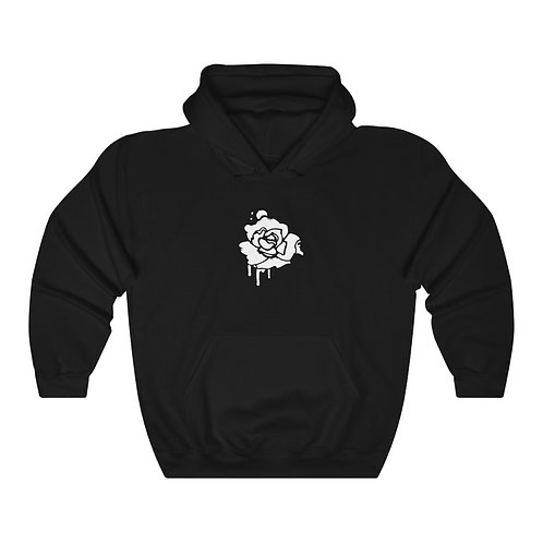 rose hoodie - black