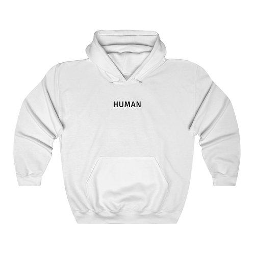 human hoodie - white