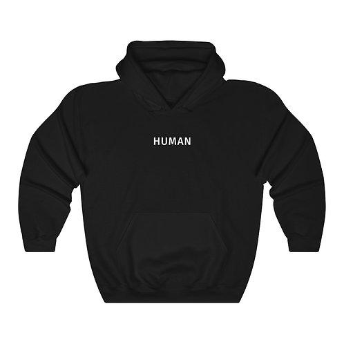 human hoodie - black