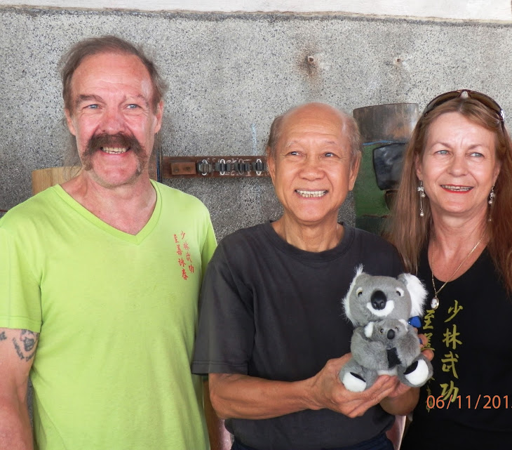 Sifu Garry & Linda with Grandmaster Lo Man Kam