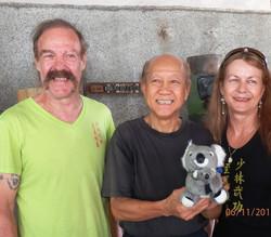 Sifu Garry & Linda with Grandmaster Lo Man Kam