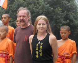 Sifu Garry & Linda with the young monks