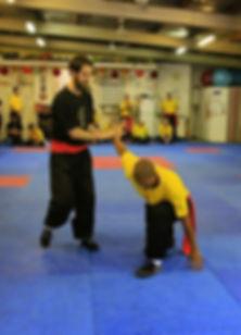 Wing Chun Bendigo students practising Wrist lock
