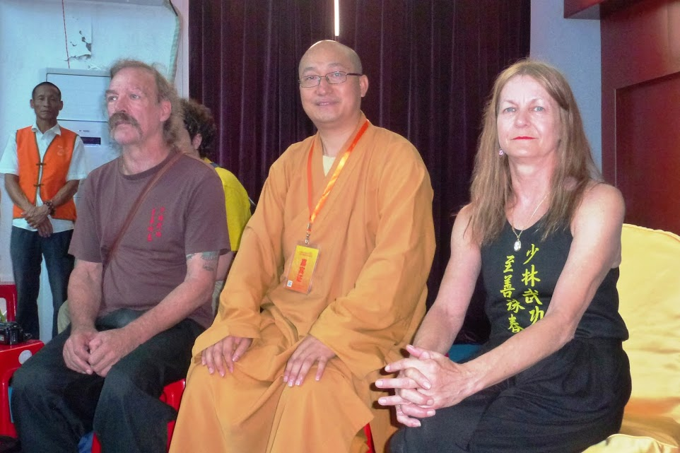 Sifu Garry & Linda with the Abbot of the Southern Shaolin Temple