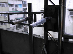 Single Arm Practice at Lo Man Kam's rooftop kwoon