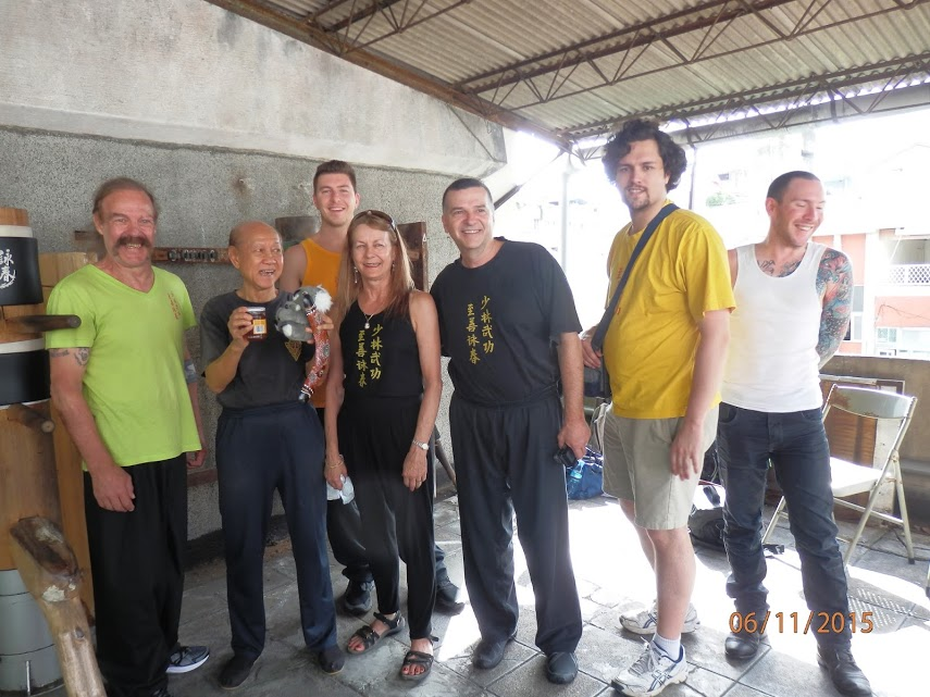 Sifu Garry & Linda with Grandmaster Lo Man Kam and the rest of the Jee Shin Team