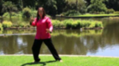 Sifu Linda Baniecki practising QiGong