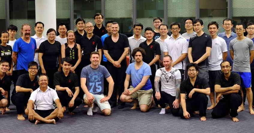 With Singapore Wing Chun school