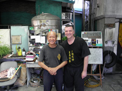 Grandmaster Lo Man Kam with Paul McCarthy