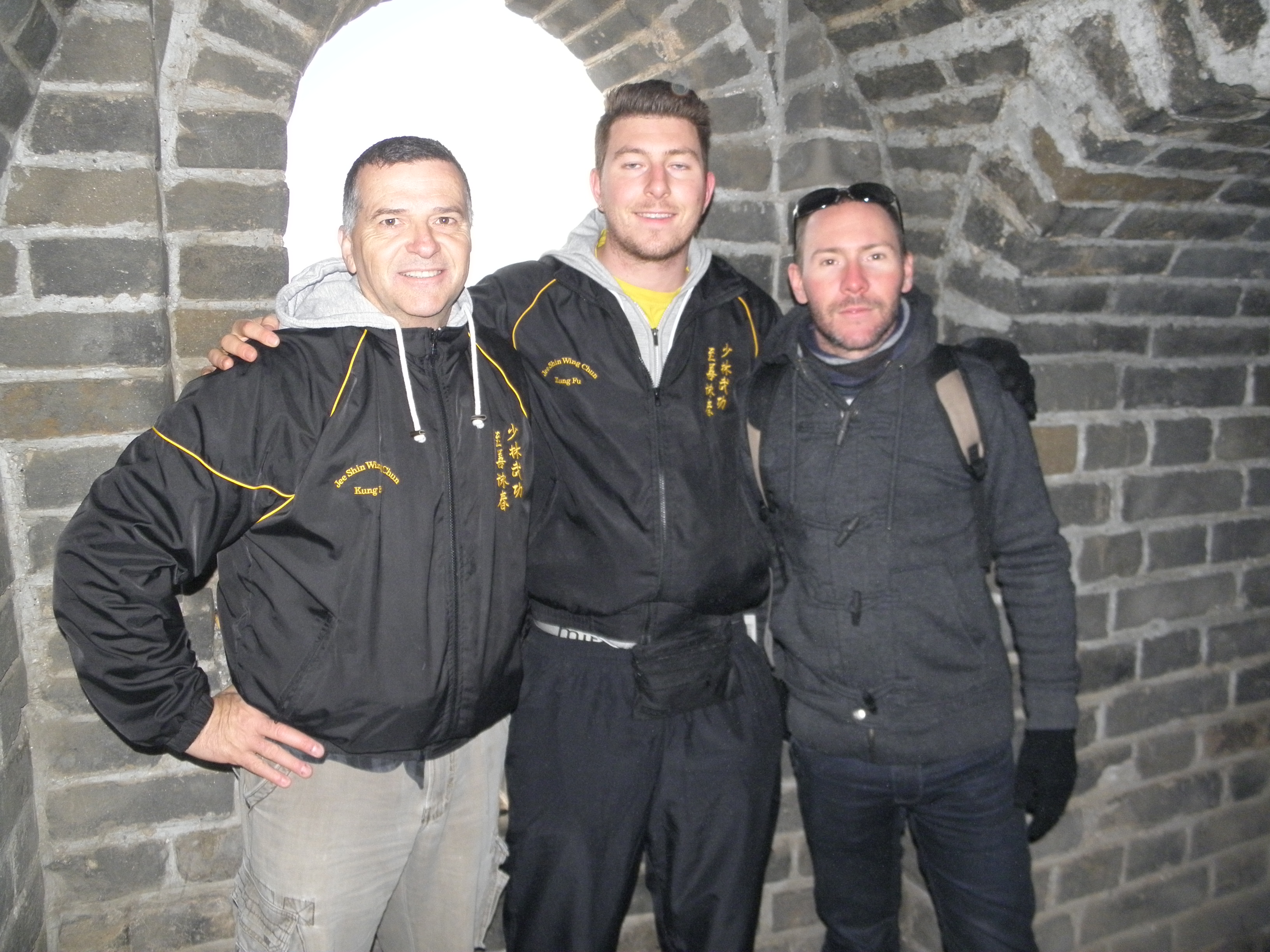 Bobby, Matt and Paul on the Great Wall of China