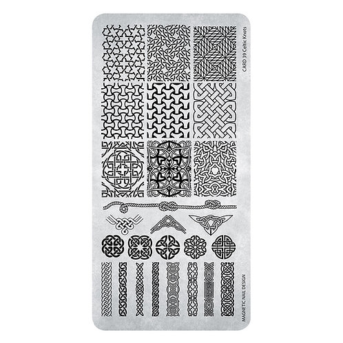 STAMPING PLATE 39 CELTIC KNOTS