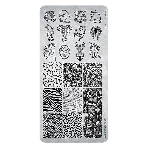 STAMPING PLATE 33 ANIMALS
