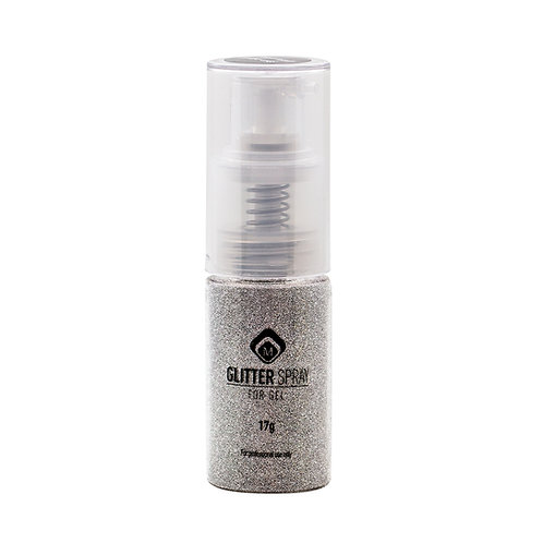 GLITTER SPRAY STEEL SILVER