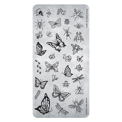 STAMPING PLATE 28 INSECTS AND BUGS