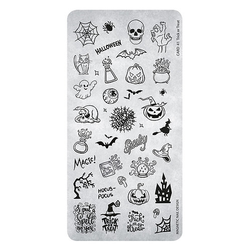 STAMPING PLATE 41 TRICK OR TREAT