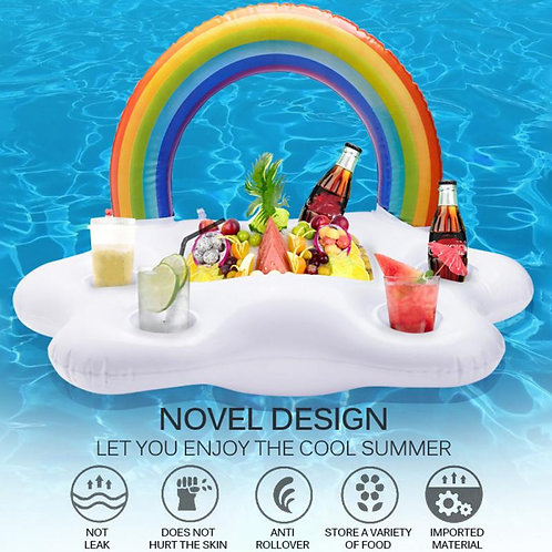 Pool Drink Holder and Ice Bucket Inflatable Floating Holder