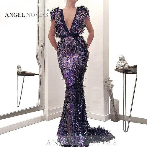 Angel Mermaid Evening Dress