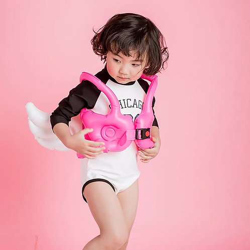Inflatable Vest Buoy Kid Swimming Ring With Angel Wings