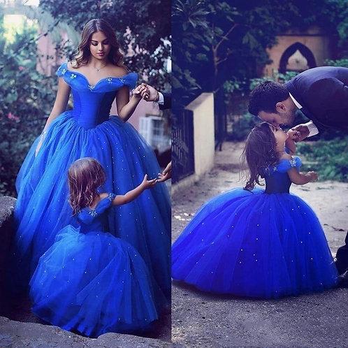 Princess Cinderella Girl Deluxe Fluffy Bead Costume