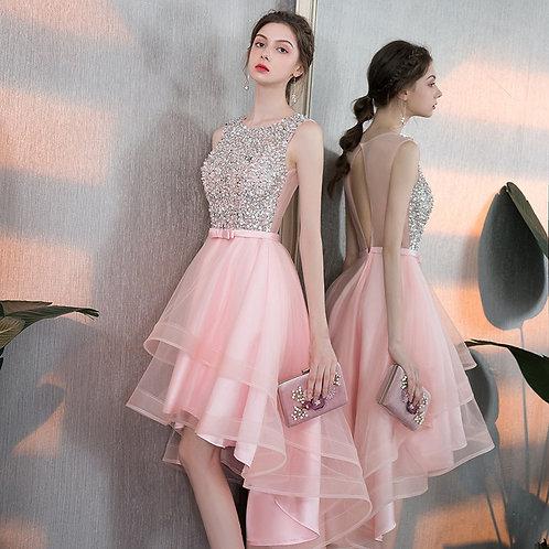 Elegant Backless  Dress Short and Long