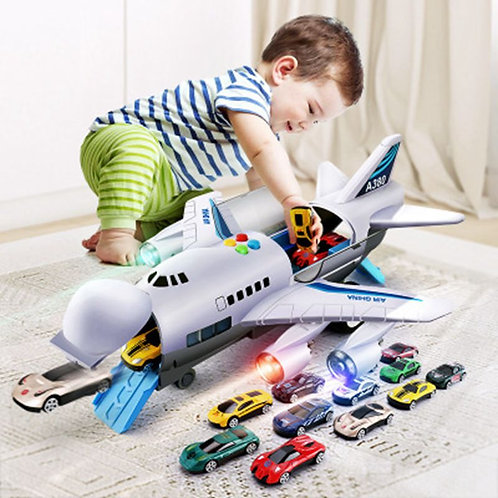 Aircraft Music Story Simulation Track Inertia Large Size Plane Airliner Toy Car
