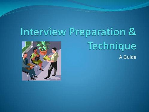 Presentation & Interview technique