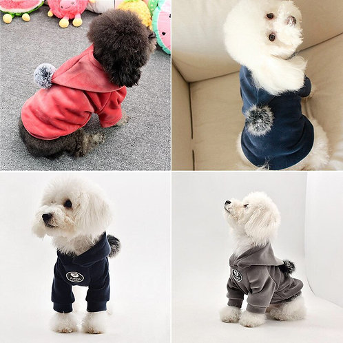 Pet Warm Soft Hooded Clothing