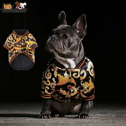 Pet Embroidery Warm Cotton Jacket Rope