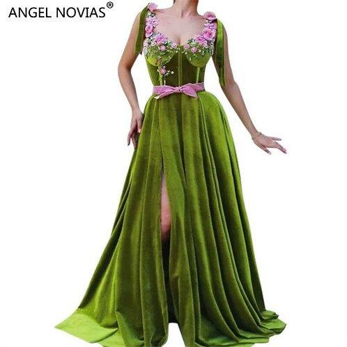 Elf Long Velvet Dress
