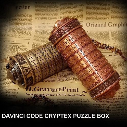 Metal Da Vinci Code Cryptex Replica Box