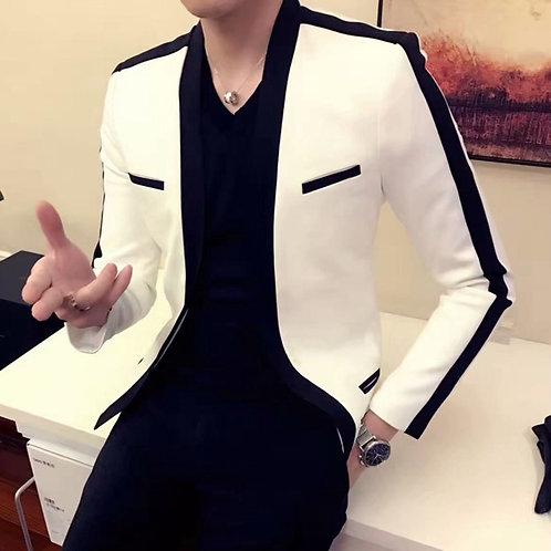 Slim Fit Versatile Suit Splicing Color Contrast
