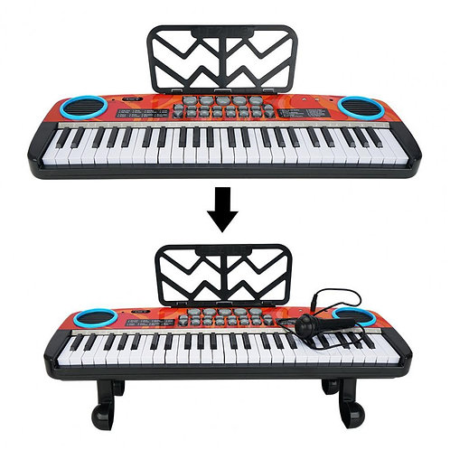 4901A Electronic Piano 49-Key Keyboard Electric Piano Multi-Mode for Kids