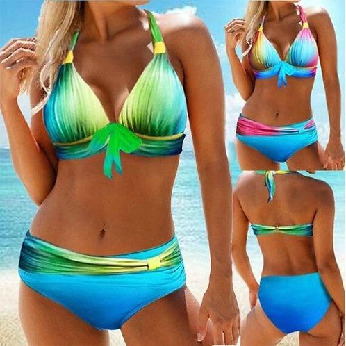 Sexy  Gradient Push Up Bikini Swimwear Set