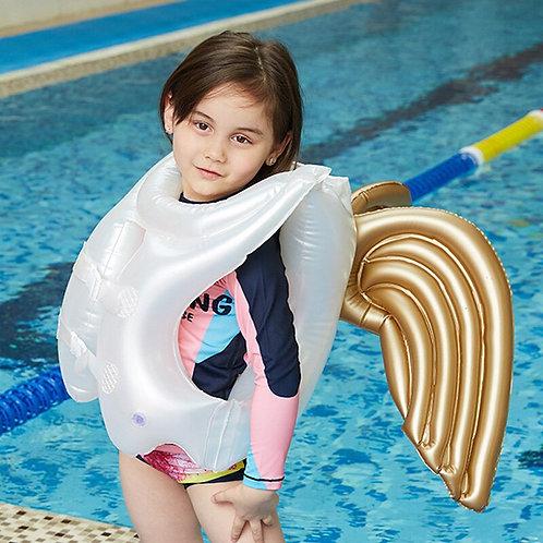 Inflatable Angel Wings Adjustable Kids Floating Safety Life Vest