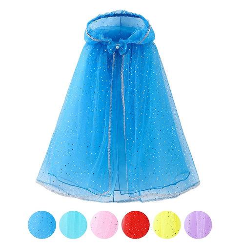 Girls Party Dress Up  Sequin Hooded Cloak Princess