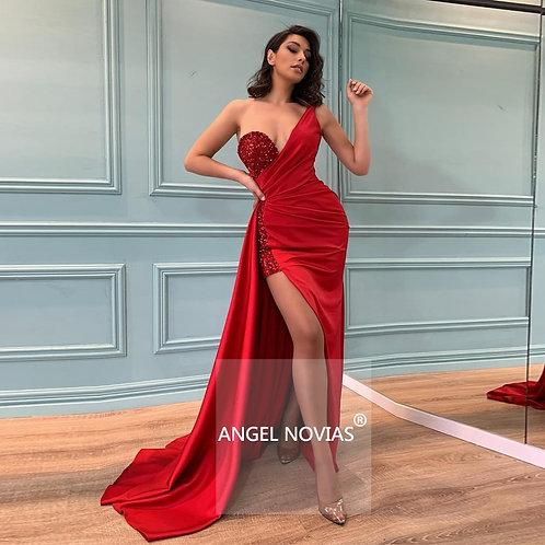 Angel One Shoulder Evening Dress
