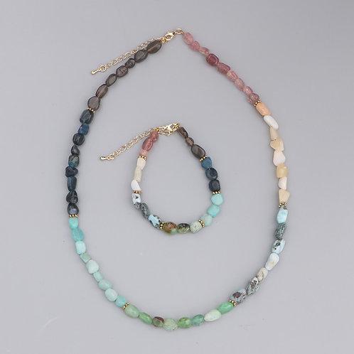 Divine Natural Stone 7 Chakras Necklace Meditation