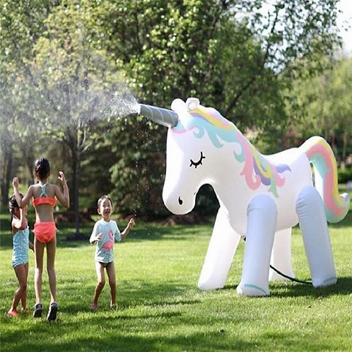 Giant Inflatable Unicorn Water Spray Pool Toy