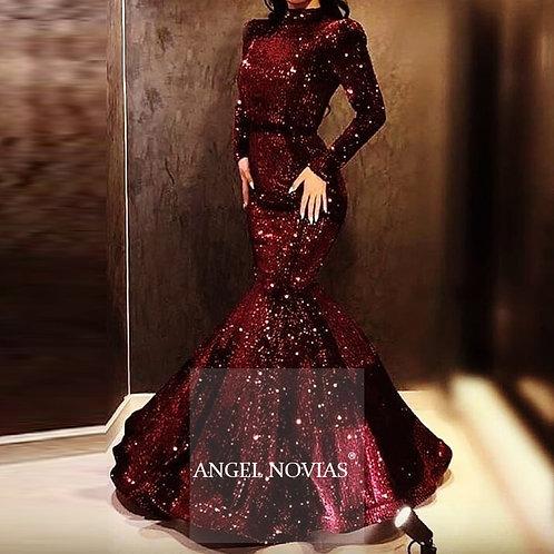 Angel Long Sleeves Evening Dress