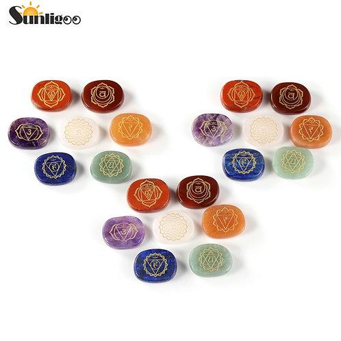 Divine 7x Natural Chakra Healing Energy Stones