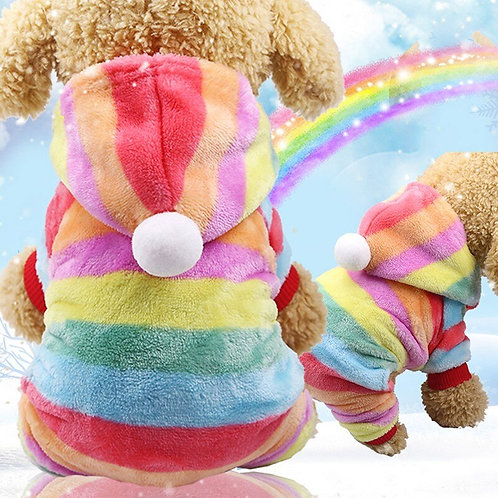 Warm Pet  Rainbow Outfit