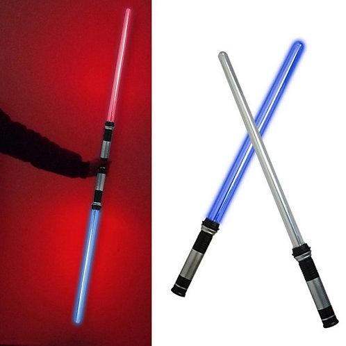 2PCS Laser Lightsaber 7 Colors FX Dual With Sound