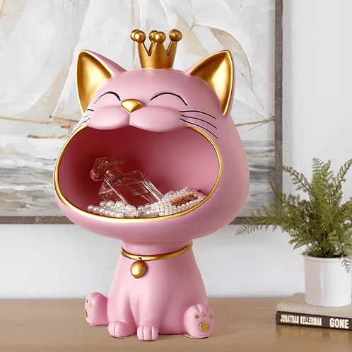 Resin Lucky Big Mouth Storage Box Figurine Sculpture