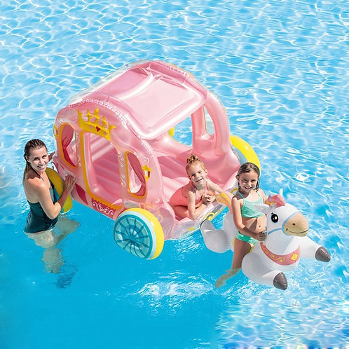 Water Inflatable Princess Chariot Ride on Unicorn Air Raft