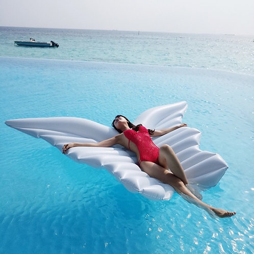 250cm Gaint Angel Wings Pool Float Bed Inflatable Mattress