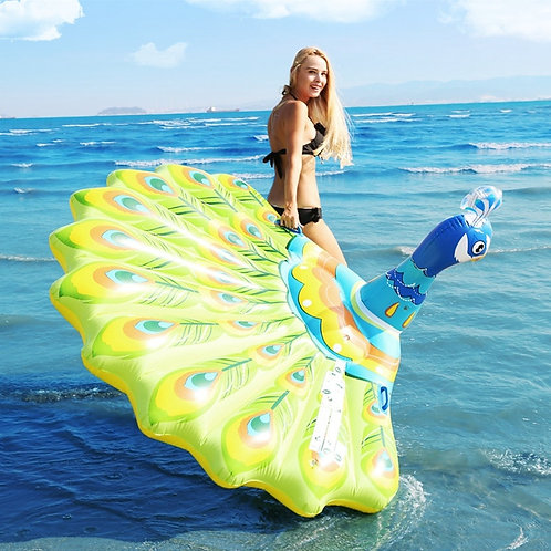 193cm Inflatable Float Peacock Water Bed Swimming